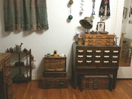 Antique drawer units