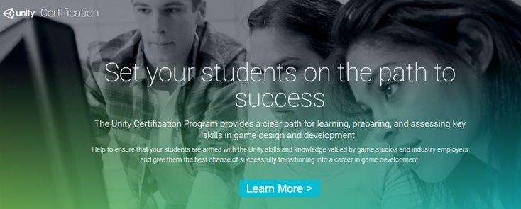 Unity Certified Developer Program for Student Success