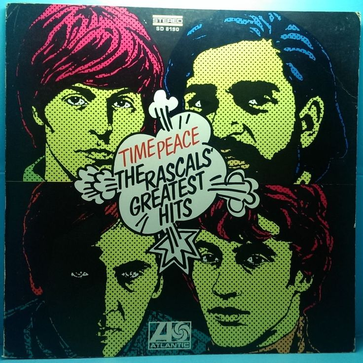 The Rascals' Greatest Hits – Time Peace LP G+/VG+ Vinyl Record Atlantic SD 8190 $2.00