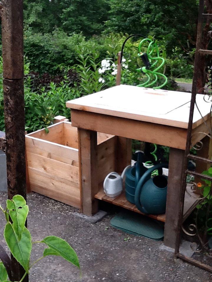 out door veggie washing station