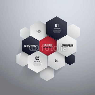 Vector: Hexagon Design.can Be Used For Infographics Or Website Layout ·  Portfolio LayoutPortfolio IdeasShape ...