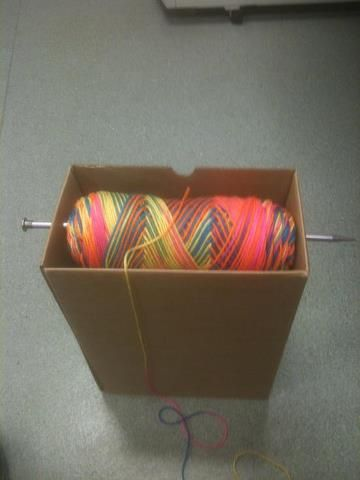What a good idea for yarn skeins