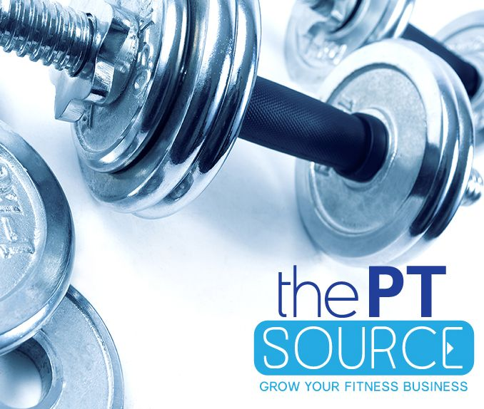 The PT Source Logo. Target market is fitness industry and personal trainers.