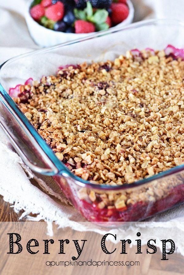 Mixed Berry Crisp #recipe