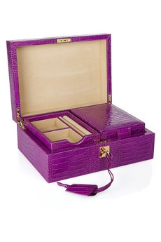 Bauble keeper: Smythson Jewelry Boxes, Leather Jewelry, Smythsoncroceffect Leather, Croc Effects Leather, Smythson Croceffect, Boxes 1785, Accessories, Smythson Croc Effects, Boxes 1 785