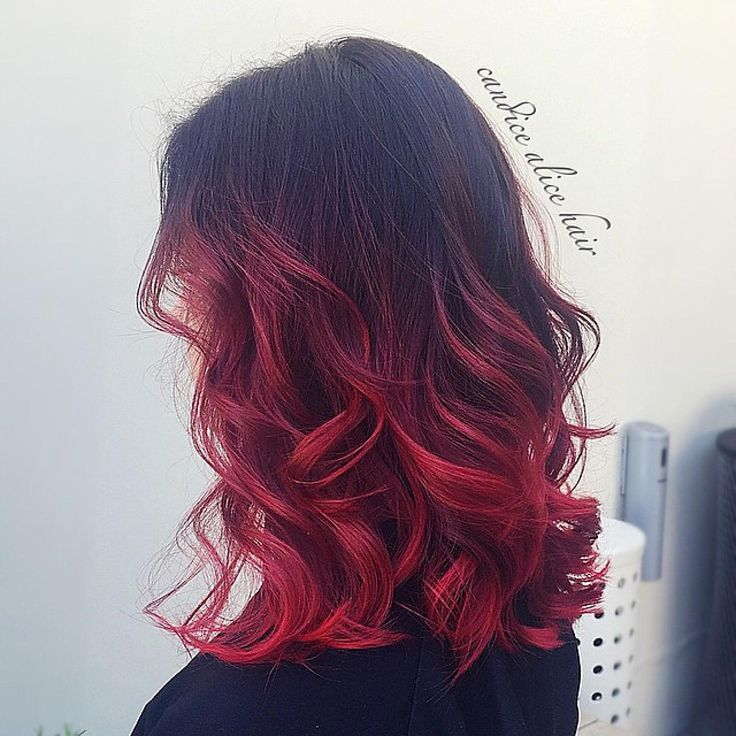 ombre hair 2017 red blue purple