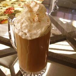"Irish Coffee ""Fresh hot coffee gets a little added pep with the addition of Irish whiskey and Irish cream."""