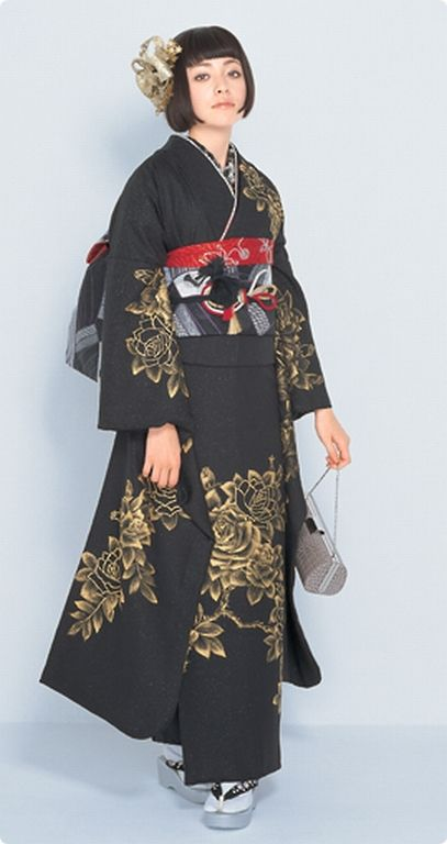 I waaaant this...I'm too old for furisode but I'd wear it with shorter sleeves...  #furisode
