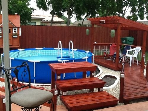 Customer Image Gallery for Intex 12-Foot by 30-Inch Family Size Round Metal Frame Pool Set