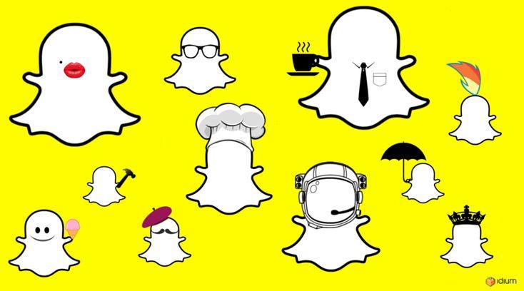 Bilde av Snapchat spøkelset med forskjellige personligheter. Hva er din Snapchat personlighet?