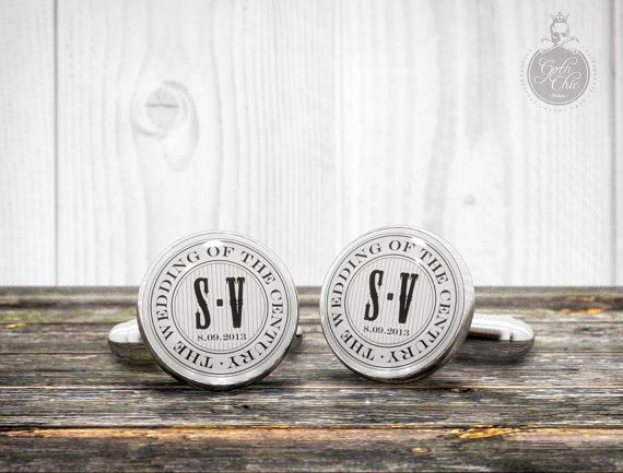 "The Wedding of the Century  Monogram and date Personalized Cufflinks - Very elegant custom cuff links, $23.00   Customizable ""date"" and ""monogram"" wedding cuff links  SPECIAL DISCOUNTS FOR THE PURCHASE OF 4 OR MORE PAIRS OF CUFFLINKS!!!  - #Accessories, #Cuff Links, #cufflinks, #wedding gifts, #wedding favours, #wedding accessorie,s #accessories wedding, #wedding gift ideas, #cufflinks wedding, #for wedding, #personalised wedding, #wedding day, #wedding cufflinks uk, #team groom, #team bride"