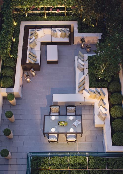 Aerial Garden Views | Hand Made Home and Garden Flower pots and Coffee Tables by Adam Christopher | adamchristopherdesign.co.uk