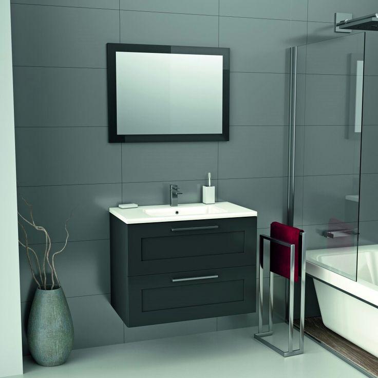Meuble de salle de bain et vasque #lio#mrbricolage#gris#anthracite