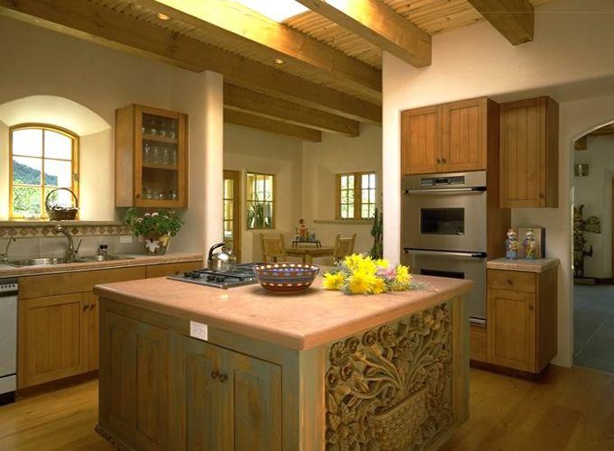Santa Fe Style Kitchen Dream Home Pinterest