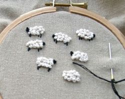 how to embroider adorable sheep on everything // squidoo  Would be a great idea for embroidering children's bed linens.