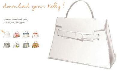 Sinterklaas surprise download ... Kellybag van Hermes als bouwplaat tas » Hobby