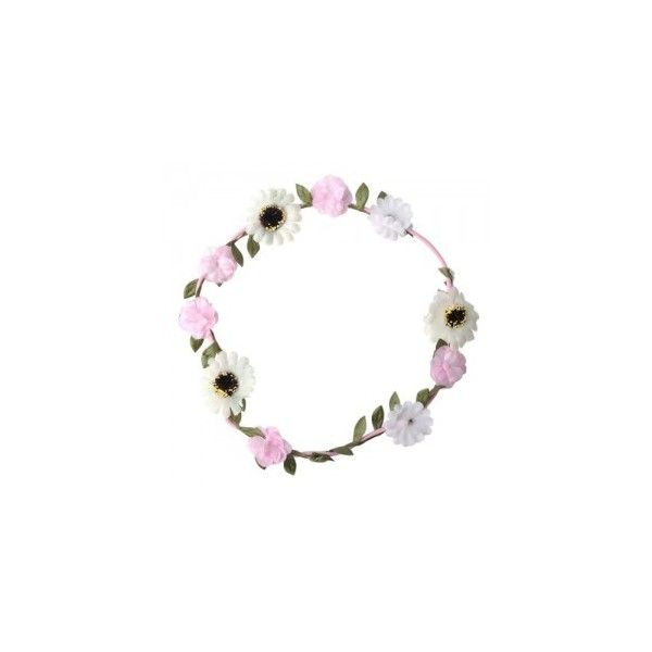 Pink White Flowers Headband (Pink Elastic) ($2.80) ❤ liked on Polyvore featuring accessories, hair accessories, fillers, headbands, elastic headbands, hippie headbands, head wrap headband, white flower hair accessories and hippy headband