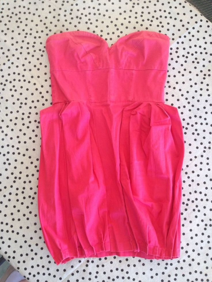 LIPSY London~Superb Quality Hot PiNK Fussia PINK~DRESS~Stretchy STRAPLESS~12