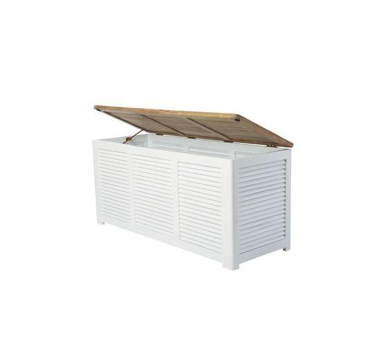 Dynbox/Förvaringsbox Teak/Vit - Newport