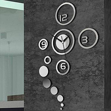 "40 ""reloj de pared de la manera del espejo creativo – EUR € 24.74"