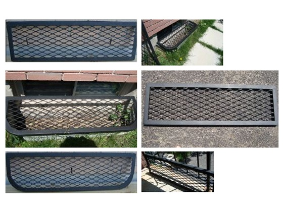 Basement Window Well Cover made from expanded metal mesh ...