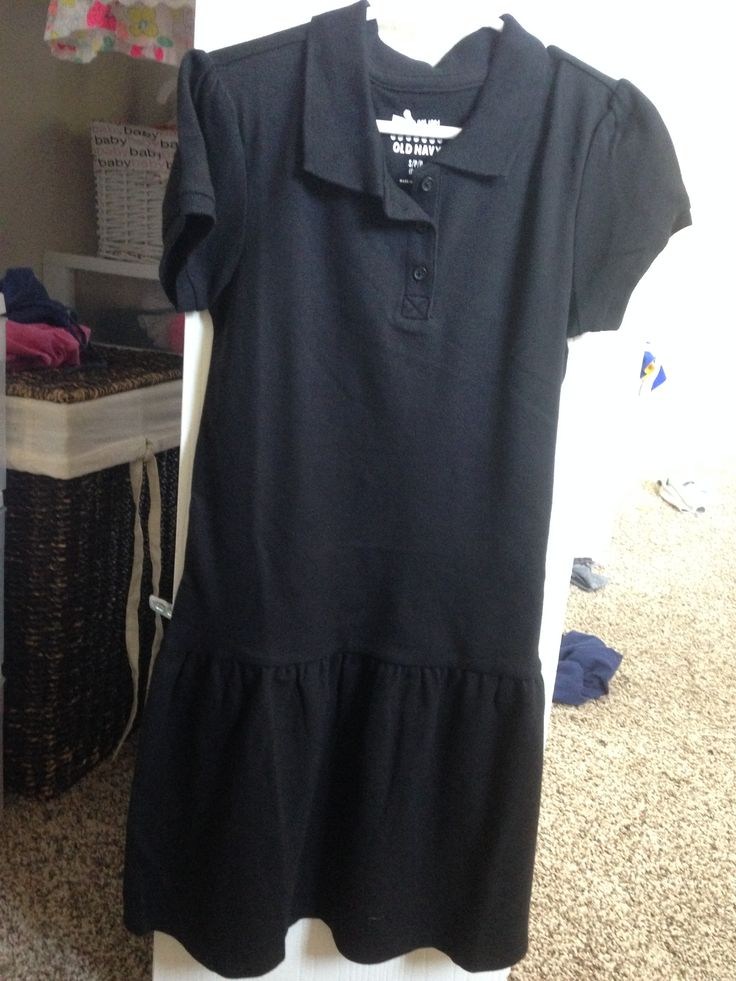 Old Navy - Black Polo Dress (Bought Two) A. Old Navy - $10 each B. None C. These dresses are soft/comfy and not too constricting for my daughter, so they work well for everyday uniform wear!