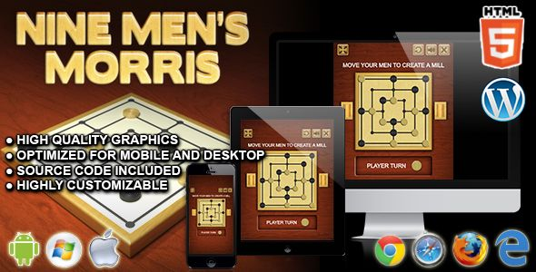 awesome Nine Men's Morris - HTML5 Board Game (Games)
