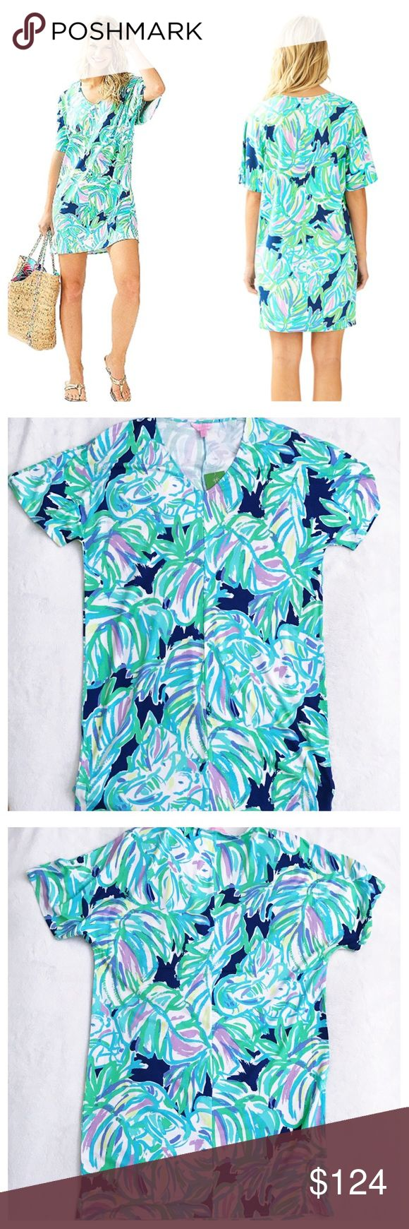 "Lilly Pulitzer Lindley Caftan dress Uptown trunk NWT no flaws. Runs large-would also fit a medium, see measurements for best fit Bust 21"" Length 36"" Waist 21"" First set of images are stock all others are of actual shorts for sale Please review all photos thoroughly  Feel free to ask questions  🚫trades 🚫modeling requests please ☂️ Lilly Pulitzer Dresses Mini"