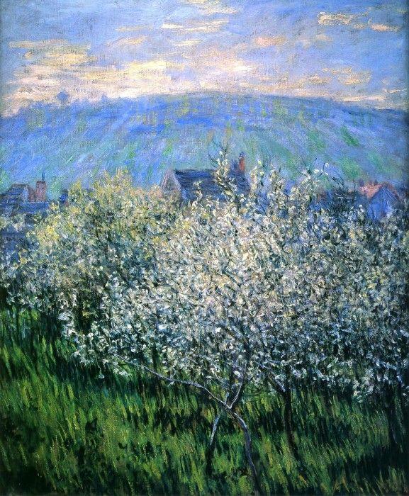 Claude Monet, Plums Blossom  (1879)