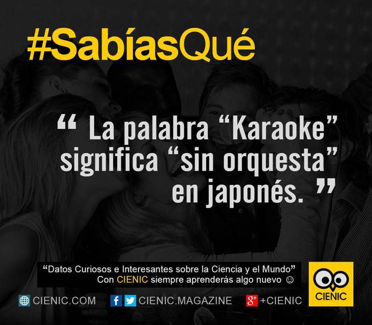 ★★★★★ Curiosidades en Corto: Karaoke I➨ http://www.cienic.com/curiosidades-sobre-el-karaoke/ → Datos Curiosos, Sabias Que, Curiosidades