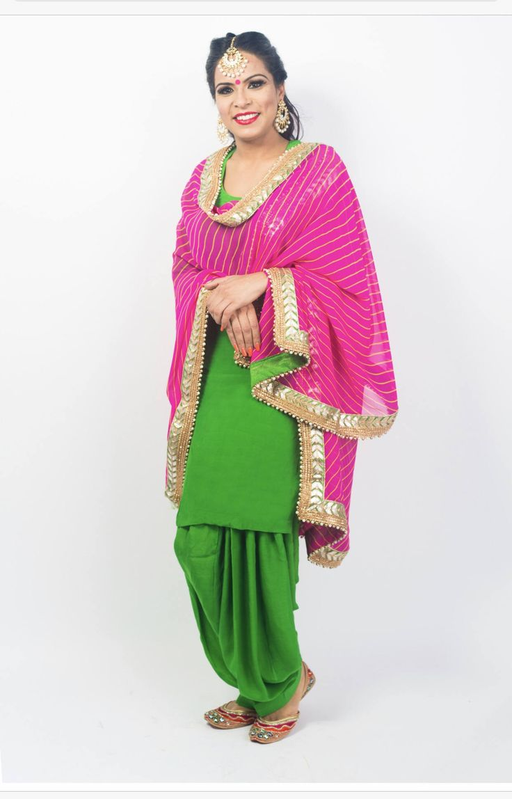 A personal favorite from my Etsy shop https://www.etsy.com/ca/listing/526504378/green-silk-punjabi-suit-with-georgette