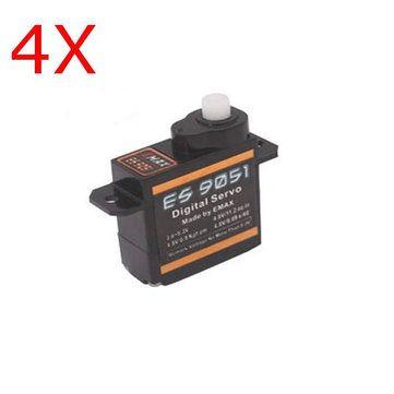 4X Emax ES9051 Digital Mini Servo For RC Model