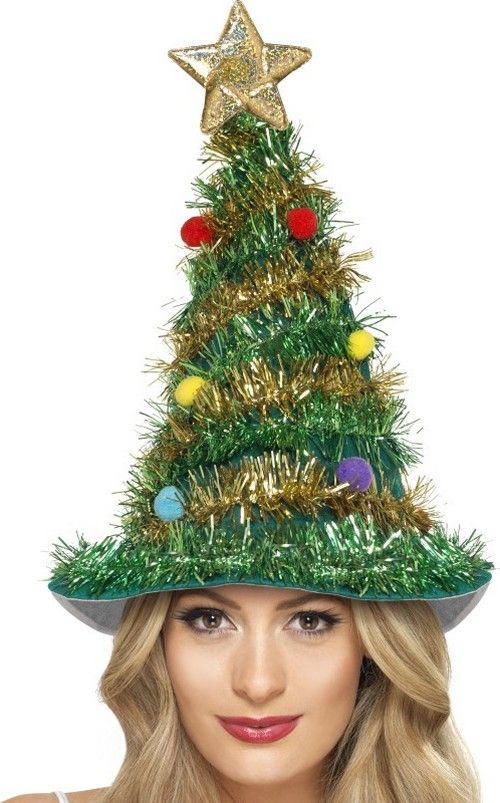 Christmas tree hat for adults