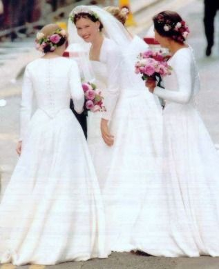 Lady Sarah Armstrong Jones, July 14, 1994 her wedding to Daniel Chatto at the church of St Stephen Walbrook.