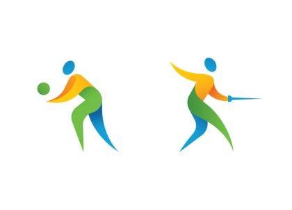 2016 리우올림픽 픽토그램 수구 역도 레슬링 체조 배드민터 하키 수영 유도 승마 농구 골프 사격 탁구 보트...