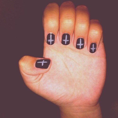 The 25 best cross nail designs ideas on pinterest diy nails cross nail design prinsesfo Images
