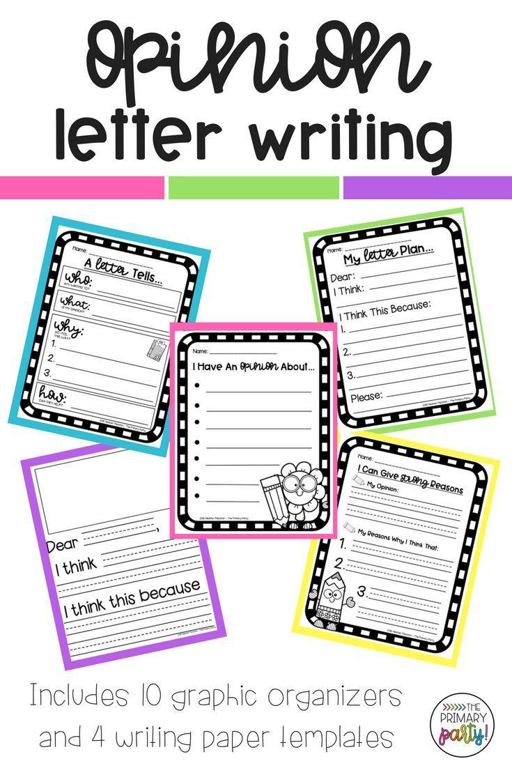 Opinion Letter Writing Pack Opinion Writing Unit Elementary Writing Writing Units