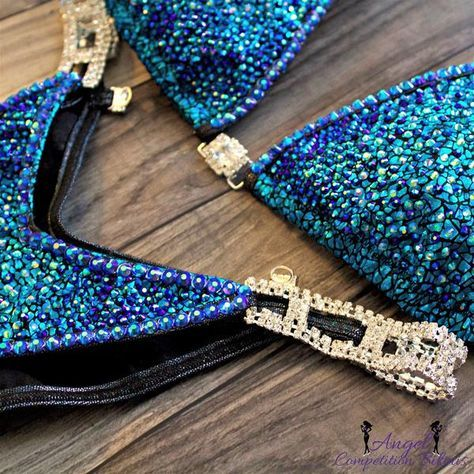 Crystal firework 2 color sapphire ab and aqua ab. Hologram snake turquoise. Sapphire ab crystal trim