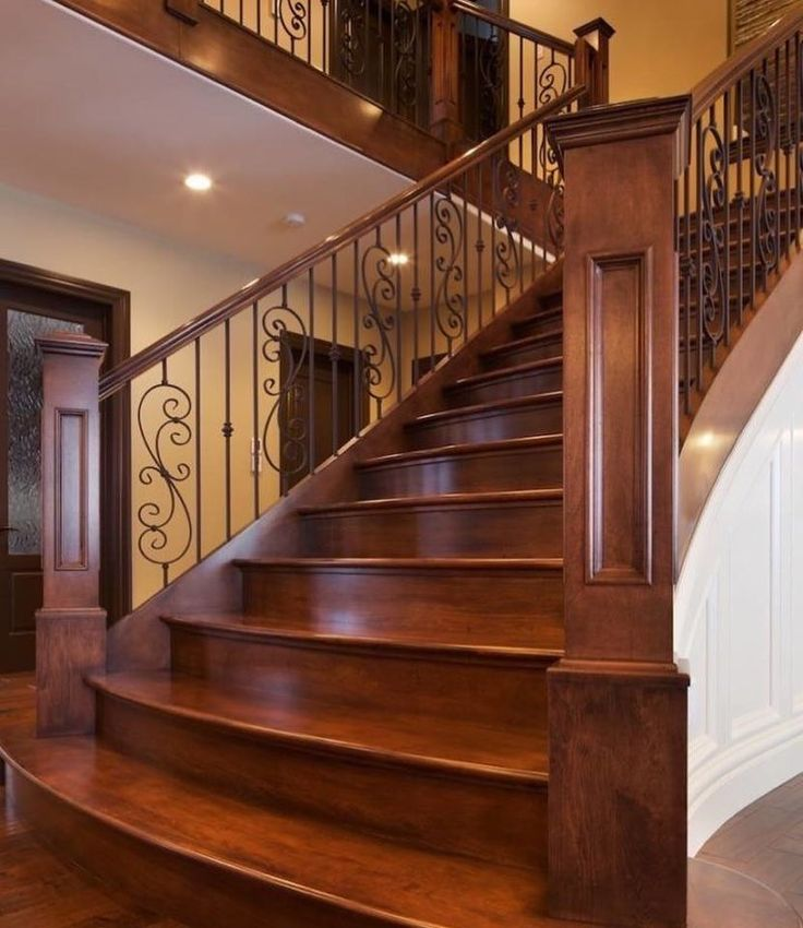 """Beautiful Interior Staircase Ideas And Newel Post Designs: Custom Newel Posts On Instagram: """"What Do Grand Entrances"""