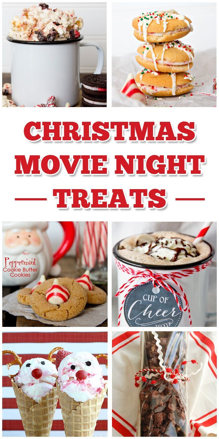 Christmas Movie Night Treats. I can't wait to start a new family movie night tradition on Christmas eve. These fun desserts will be perfect for movie night.