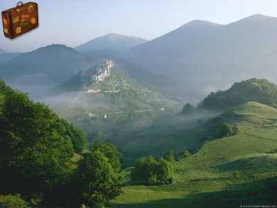 Opi Village at Dawn, Abruzzo National Park      http://www.travelwallpaper.net/p/europe/italy/page-1.html    #travel #opivillageatdawn #italy