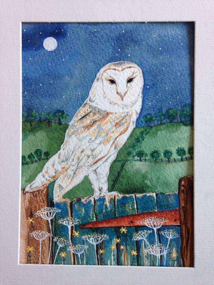 Barn owl on old gate Rachael dunn