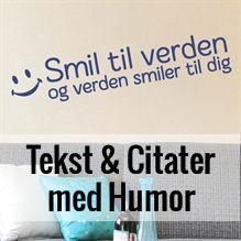 Tekst og Citater med Humor