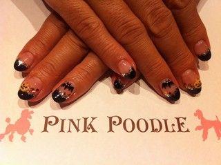 黒フレンチハロウィンネイル♪ - 西小山・祐天寺のネイルサロン PINK POODLE ピンクプードル|yaplog!(ヤプログ!)byGMO