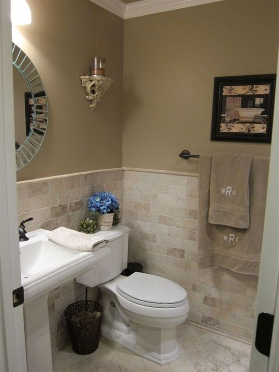 Bathroom Tile Ideas Bathroom Floor Tiles Are A Simple Method To Upgrade Your Bathroom Without Totally R Small Half Bathrooms Half Bathroom Decor Tan Bathroom