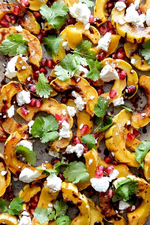 Roasted Squash with Pomegranate and Goat Cheese | Recipe