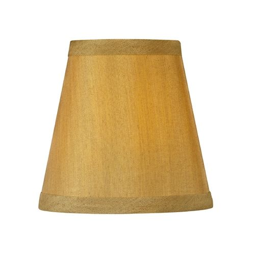 gold colored mini lamp shade with clip on assembly. Black Bedroom Furniture Sets. Home Design Ideas
