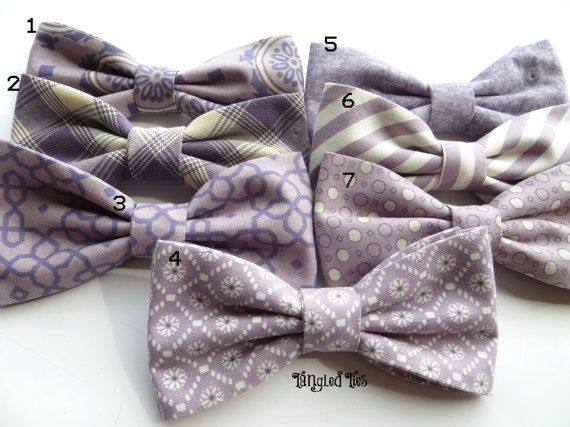Mauve Mix And Match Coordinating Wedding Bow Ties, Men's Bow Ties in 100% Designer Cotton For Boys, Toddlers, Girls, Men