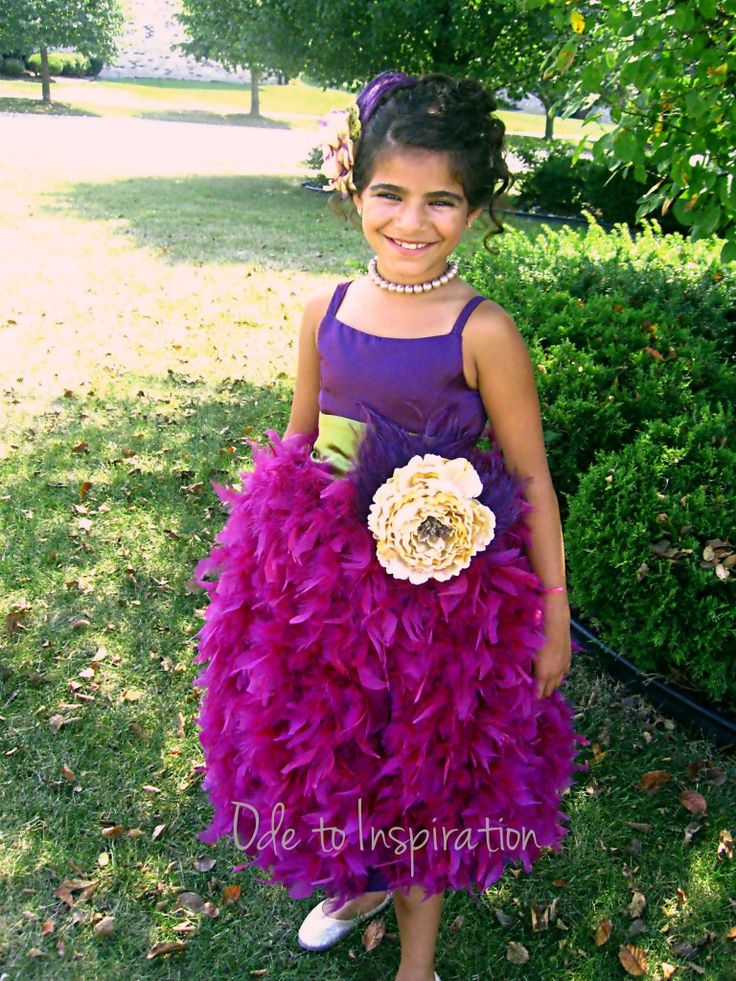 Feather Apron Flower Girl Dress  would make a cute Christmas dress. 17 Best images about flower girl dresses on Pinterest   A line