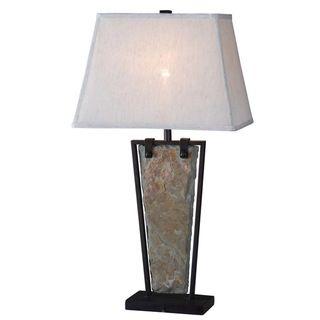 for living room...Calvert Natural Slate Table Lamp